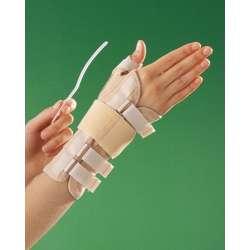Długa bioceramiczna orteza nadgarstka z taśmą mocującą i stabilizacją kciuka OPPO 3182