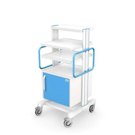 Tani Sklep Medyczny - Wózek pod aparaturę medyczną serii APAR-2 AR120-1TECH-MED - aluminiowy profil - z odpornej stali - Tanio