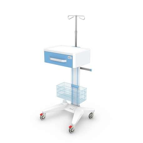 Wózek pod aparaturę medyczną serii APAR-1AP-3 z wyposażeniem TECH-MED