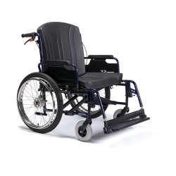 Wózek inwalidzki ręczny, wykonany ze stopów lekkich. Dla osób ważących do 200kg ECLIPS XXL - VERMEIREN