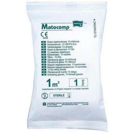 Sklep medyczny - Gaza opatrunkowa 13-nitkowa jałowa - higiena - gaza - opatrunek - MATOCAMP - Niska cena!