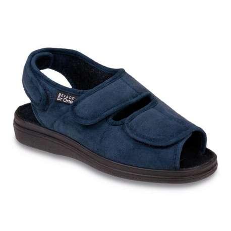 Sklep medyczny. Obuwie dr Orto 676D - sandały granatowe - buty na haluksy sklep internetowy, na stopę cukrzycową, wygodne. Tanio