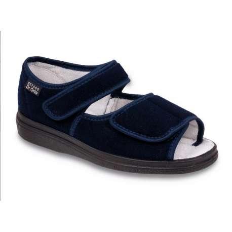 Sklep medyczny. Obuwie dr Orto 989D granat - sandały damskie granatowe - buty na haluksy sklep internetowy, na stopę cukrzycową.