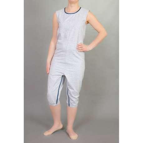 Sklep medyczny - Kombinezon bez rękawów z krótkimi nogawkami z zamkiem w kroku -STUDIO JSG- Niska cena
