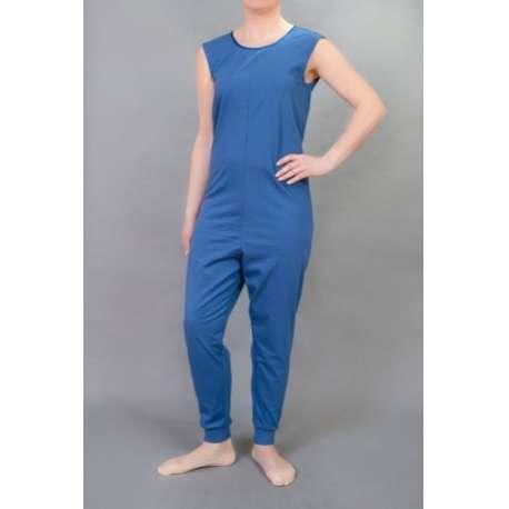 Sklep medyczny-Kombinezon bez rękawów z długimi nogawkami z zamkiem na plecach - odzież dla osób starszych- STUDIO JSG-Tanio