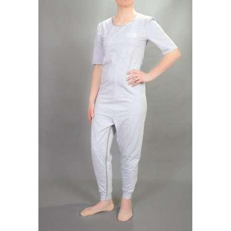 Sklep medyczny -Kombinezon z krótkimi rękawami i długimi nogawkami z zamkiem w kroku -STUDIO JSG- Tanio