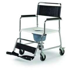 Wózek toaletowy stalowy z wiaderkiem HCDA XXL MEYRA