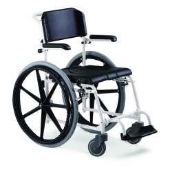 """Wózek prysznicowo-toaletowy McWet, koła tylne 24"""", wypinane + koła tylne 5"""" MEYRA"""