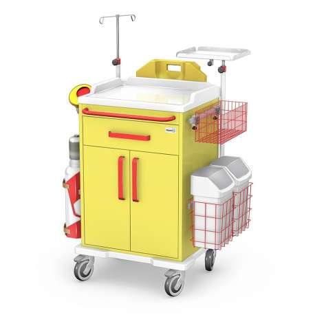 Wózek reanimacyjny REN-03/ABS z wyposaż (z 3 szufladami) TECHMED Bydgoszcz