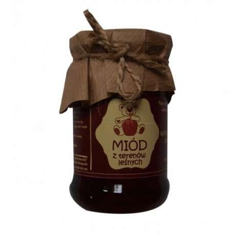 Sklep medyczny - Naturalny Miód leśny 380 g Miody Dworskie - na przeziębienie - bogate właściwości - Tanio! Niska cena!