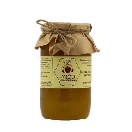Sklep medyczny - Miód wielokwiatowy naturalny 1kg Miody Dworskie - właściwości zdrowotne - na przeziębienia - niska cena! Tanio!