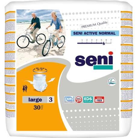 Sklep medyczny - Majtki chłonne Seni Active Normal L 30 szt - pampersy dla dorosłych wyrób medyczny TZMO - Refundacja NFZ! Tanio