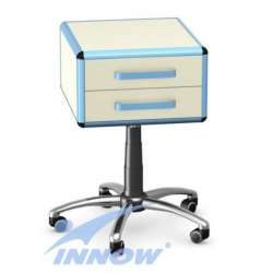 Asystor/stolik wielofunkcyjny, 2 szuflady z płyty meblowej - TMA-13