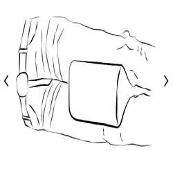 Rozpórka nóg w pokrowcu frotte PP-12/L 20x16,5x26cm REHA FUND