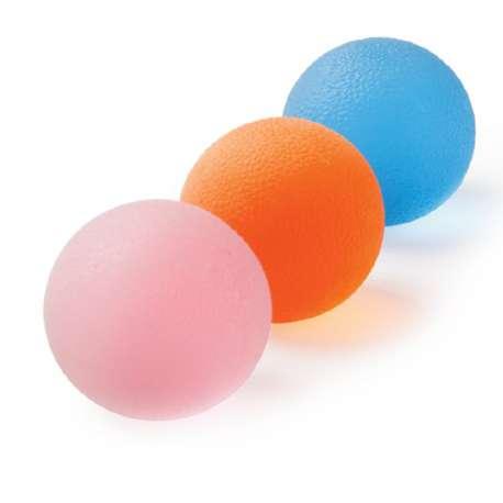 Piłeczka do ćwiczeń różowa, niebieska, pomarańczowa MDH