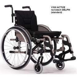 Wózek inwalidzki wykonany ze stopów lekkich V300 ACTIVE XXL VERMEIREN