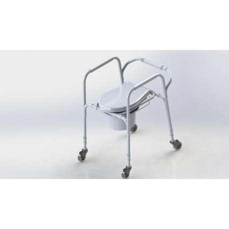 Ultralekkie krzesło toaletowe z kołami ANTAR AT01003