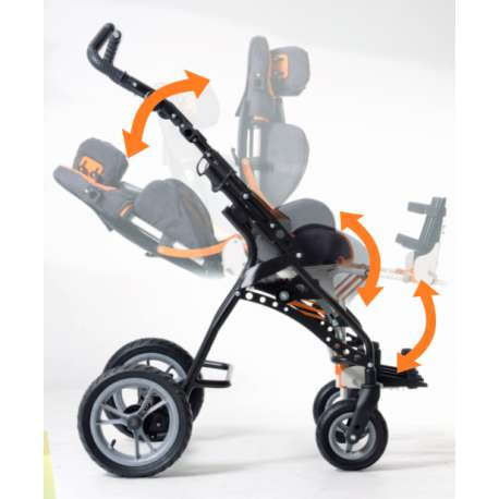 Wózek inwalidzki specjalny dla dzieci GEMINI II VERMEIREN r 40 cm.