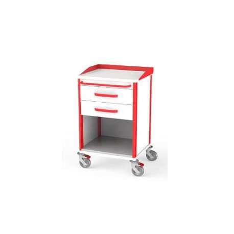 Szafka z 2 szufladami  AVIT-2W0 / RVIT-2W0 do wózka reanimacyjnego lub anestezjologicznego  TECH-MED Bydgoszcz