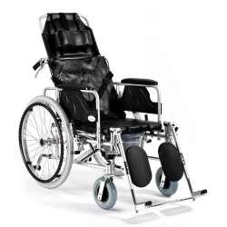 Wózek inwalidzki aluminiowy stabilizujący plecy i głowę z funkcją toaletową SPECJAL-TIM FS-654 LGC TIMAGO