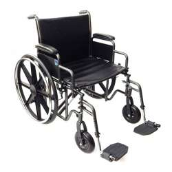 Wózek inwalidzki stalowy wzmocniony K7 (maks. obciąż 225 kg) TIMAGO