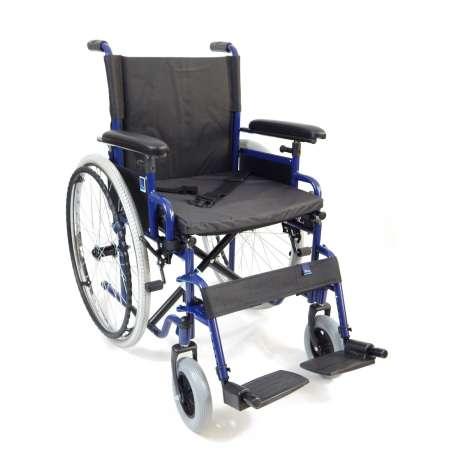 Wózek inwalidzki ręczny stalowy z hamulcem pomocniczym H011 TIMAGO