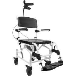 Kąpielowo-toaletowy wózek inwalidzki z odchylanym siedziskiem i zagłówkiem 50 cm - Mobilex