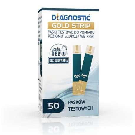 Sklep medyczny - Diagnostic Gold Strip - DIAGNOSIS - paski kontrolne do glukometru - Glukometry, paski i lancety - Tanio