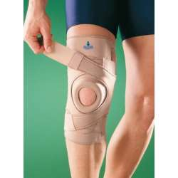 Stabilizator kolana z silikonowymi wzmocnieniami bocznymi oraz zapięciem krzyżowym 1033 OPPO