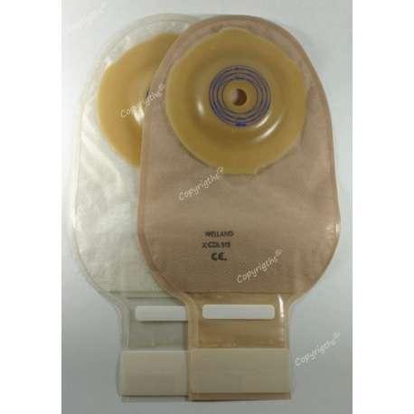 Worek kolostomijny jednoczęściowy Flair Curvex Closed otwarty beżowy lub przeźroczysty WELLAND MEDICAL