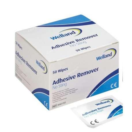 Sklep medyczny - Gaziki do zmywania skóry Welland Adhesive Remover bezalkoholowe WAD050 - WELLAND MEDICAL - Tanio