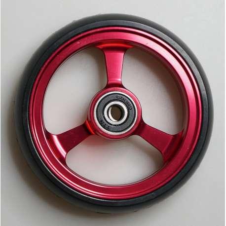 Sklep medyczny - Koło do wózka inwalidzkiego czerwone 100x25 - RECOMEDIC - koła przednie do wózków inwalidzkich - Tanio