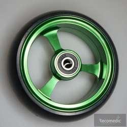 Koło do wózka inwalidzkiego zielone 100x36 RECOMEDIC