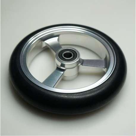 Sklep medyczny - Koło do wózka inwalidzkiego srebrne 125x25 - RECOMEDIC - koła przednie do wózków inwalidzkich - Niska cena