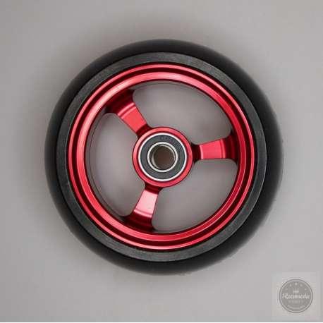 Sklep medyczny - Koło do wózka inwalidzkiego czerwone 78x36 - RECOMEDIC- koła przednie do wózków inwalidzkich- Tanio
