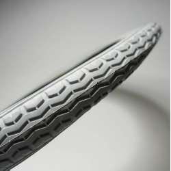 Opona do wózka inwalidzkiego szara 16x1.75, ETRTO-Nr 47-305, profil kostka RECOMEDIC
