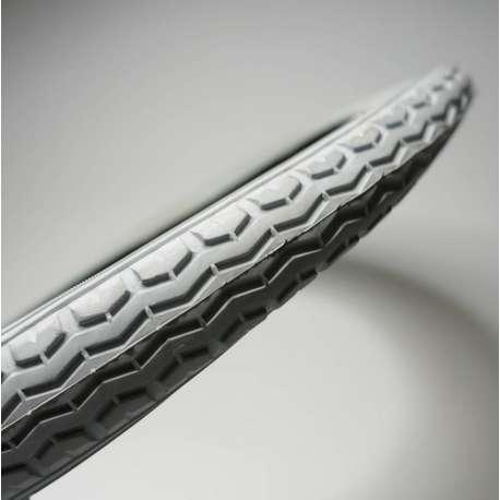 Sklep medyczny - Opona do standardowych wózków inwalidzkich szara 16x1.75, ETRTO-Nr 47-305, profil kostka-RECOMEDIC - Tanio
