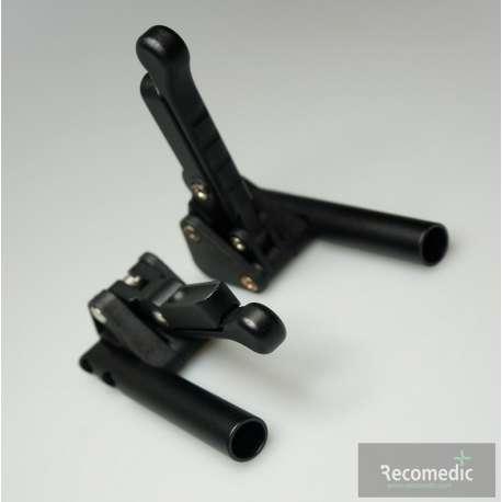 Sklep medyczny - Hamulec postojowy do wózków aktywnych, czarny z tworzywa, prawy/lewy -RECOMEDIC- Niska cena