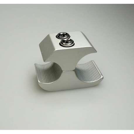 Sklep medyczny- Uchwyt hamulca postojowego z aluminium, na rurę na rurę 19mm/25mm srebrny -RECOMEDIC- Hamulce do wózków- Tanio
