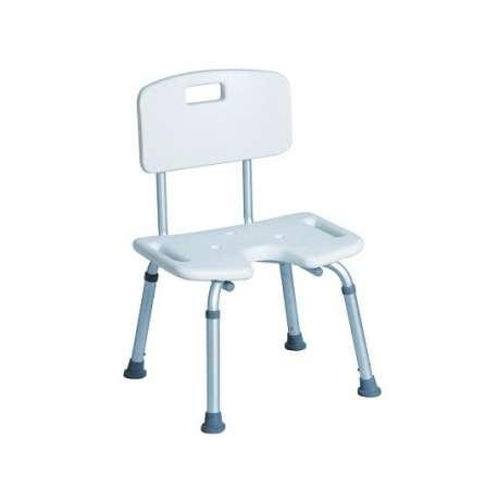 Sklep medyczny -Taboret prysznicowy dla niepełnosprawnych z oparciem i siedziskiem typu U system TF TGR-R KP-U 3522 TIMAGO-Tanio