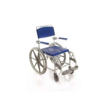 Krzesło kąpielowo-toaletowe Moretti z większymi tylnymi kołami LEVICARE