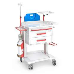 Wózek reanimacyjny serii OPTIMUM typ OR-2ABS z wyposażeniem