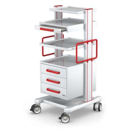 Wózek pod aparaturę medyczną serii APAR-2 AR120-2 TECH-MED