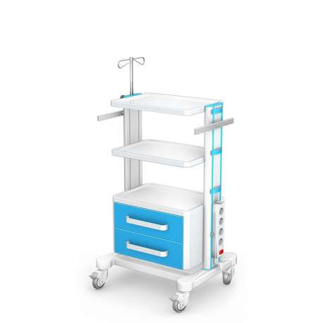 Stolik pod aparaturę medyczną serii K-1 LUX G-002-LUX TECH-MED