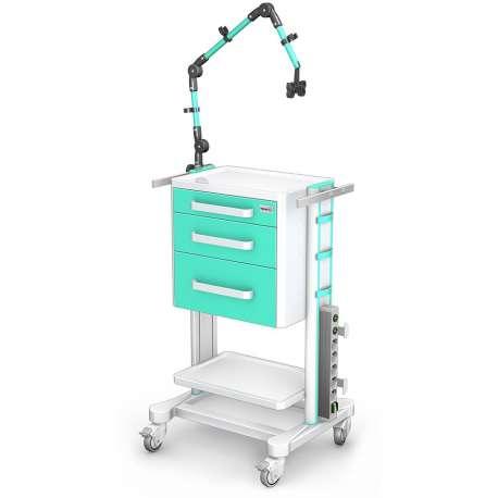 Stolik pod aparaturę medyczną serii K-1 LUX G-009 LUX z wyp. TECH-MED