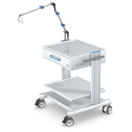Tani Sklep Medyczny Oferuje - Wózki pod aparaturę medyczną serii APAR-2 AR80-4 TECH-MED - do aparatury medycznej - aluminiowy st
