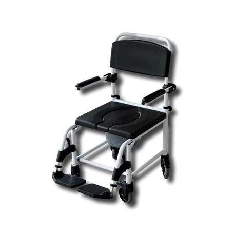 Sklep medyczny - Wózek prysznicowo toaletowy na małych kołach MOBILEX - wózek inwalidzki - z wc - podłokietnik - Niska cena!