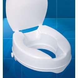 Sklep medyczny - Nasadka toaletowa z przykrywką 10 cm MOBILEX - nakładka na sedes wc - podwyższenie dla niepełnosprawnych - Nisk