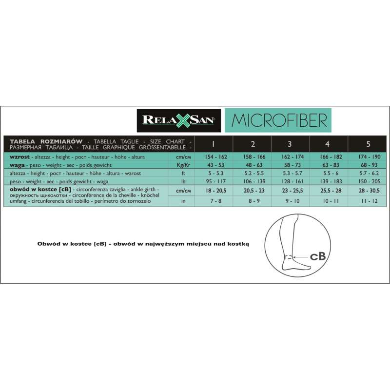 36910856cd5932 ... RELAXSAN Pończochy samonośne przeciwżylakowe MICROFIBRA 140 den (18-22  mmHg)
