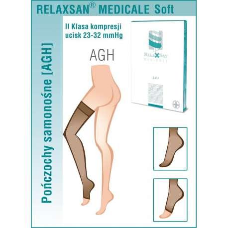 RELAXSAN Pończochy medyczne samonośne II Klasa Ucisku 23-32 mmHg - Linia Medicale Soft
